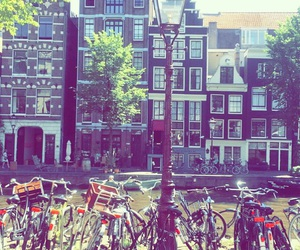 amsterdam, bike, and holiday image