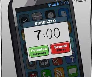 funny, alarm, and snooze image