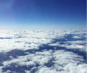 blue, travel, and clouds image