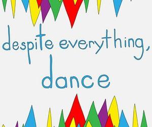 dance, triangle, and rainbow image