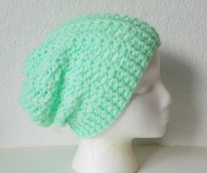 mint green, beanie hat, and skullcap image