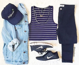 outfit, nike, and style image