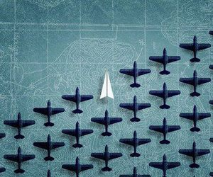 plane, airplane, and Paper image