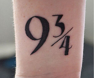 harry potter, tattoo, and 9 3 4 image