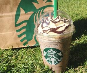 chocolate, coffee, and starbucks image