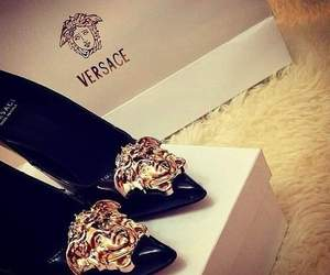 shoes, Versace, and black image