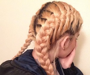 hair, tumblr, and braid image