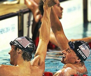 Michael Phelps, ryan lochte, and sport image
