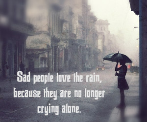alone, cry, and rain image