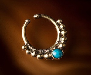 blue, jewelry, and nose ring image