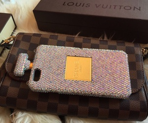 bling, iphone, and Louis Vuitton image