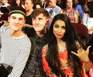connor franta, lilly singh, and kian lawley image