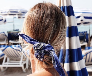 hair, summer, and blue image