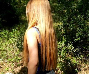 blonde, hair, and nature image