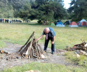 camp, explore, and fire image