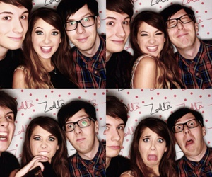 zoella, amazingphil, and danisnotonfire image