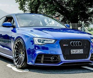 audi, blue, and low image