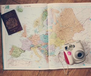 blogger, maps, and travel image