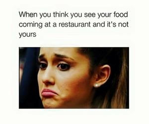 funny, food, and ariana grande image