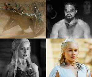 game of thrones, daenerys targaryen, and khal drogo image