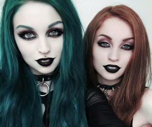 alternative, gothic, and hair image