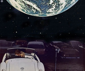 moon, car, and couple image
