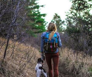 dog and girl image