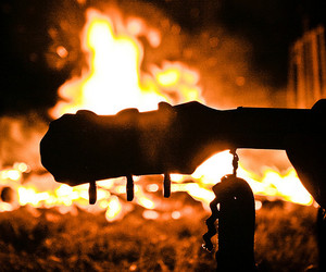 bonfire, guitar, and photography image