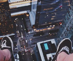 city, light, and vans image