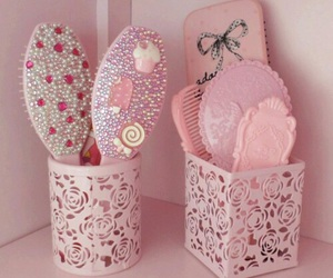 pink, Brushes, and girly image