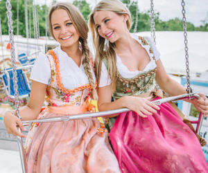 blogger, dirndl, and dress image