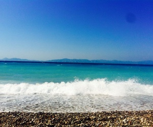 beach, Greece, and ocean image