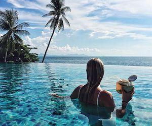 beach, paradise, and resort image