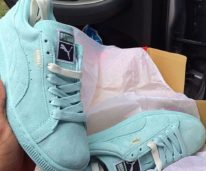 puma, shoes, and blue image