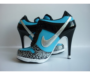 nike, heels, and shoes image