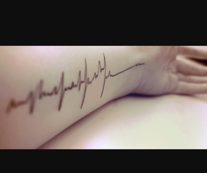 black, heart, and heartbeat image