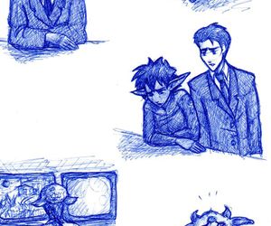 butler, foaly, and artemis fowl image
