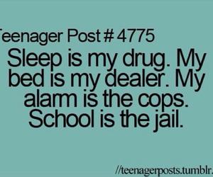 sleep, Lazy, and school image