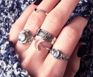 rings, moon, and nails image