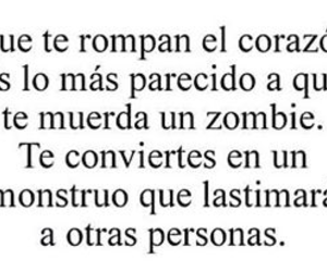 zombie, frases, and corazon image