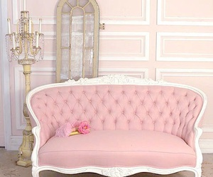 pink and sofa image