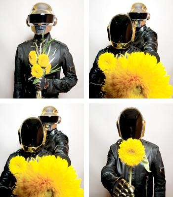 robots, yellow, and daft punk image