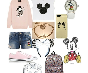 clothes, mickey mouse, and outfit image
