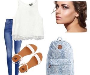 bag, fashion, and jean image