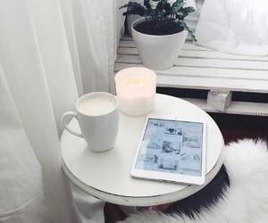 white, ipad, and candle image
