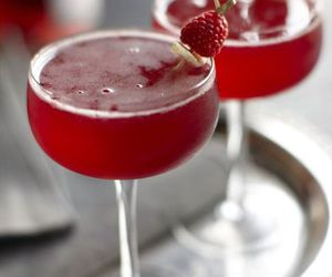 drink, raspberry, and red image