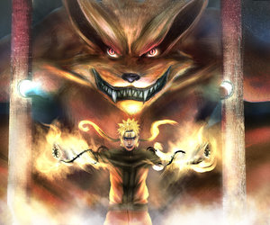 demon, fox, and naruto image