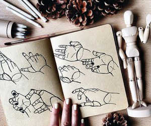 doll, draw, and hands image