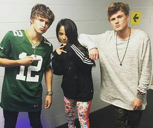 the vamps, tristan evans, and becky g image