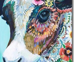 cow, animal, and art image